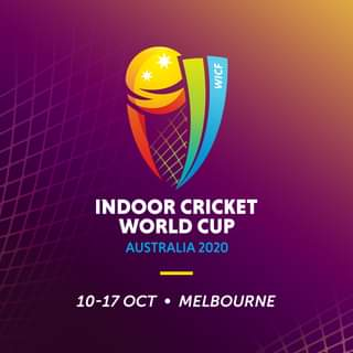 """May be an image of text that says """"WICH INDOOR CRICKET WORLD CUP AUSTRALIA 2020 10-1700 OCT MELBOURNE"""""""